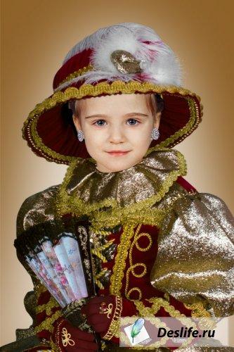 Маленькая дама - Костюм для фотошоп