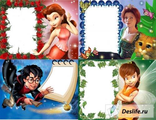 Сказочные рамки для фотошоп