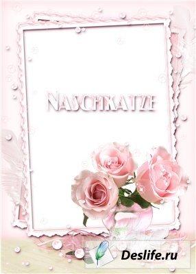 Очаровательная розовая рамка для фото