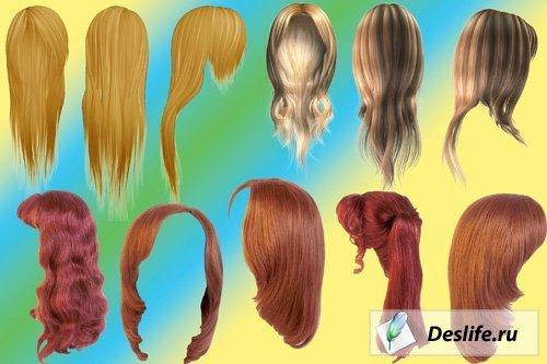 Волосы и причёски в PSD