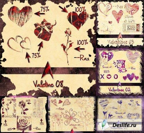 Набор кистей ко Дню святого Валентина