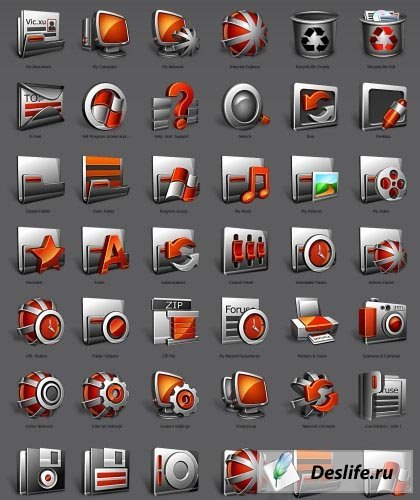 Hemosiderosis IP - Пакет иконок для IconPackager