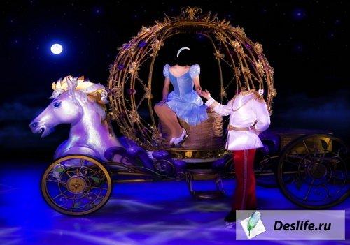 Принцесса в карете - Костюм для фотошоп