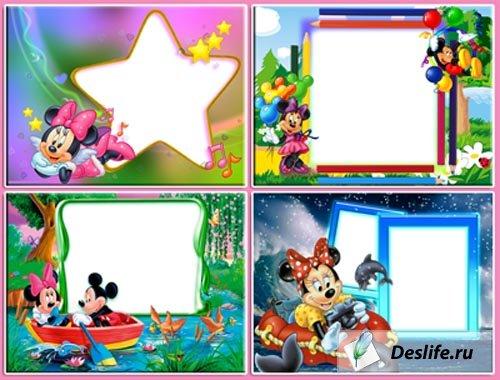 Рамки для фотошопа - Микки Маус