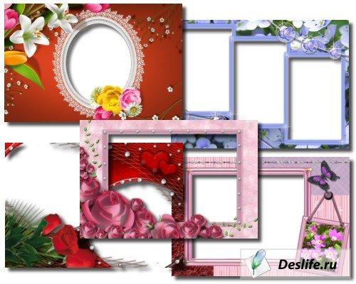 Рамочки для фото с цветами