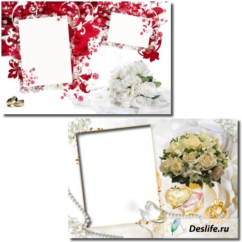 Свадебные рамочки для фотошоп