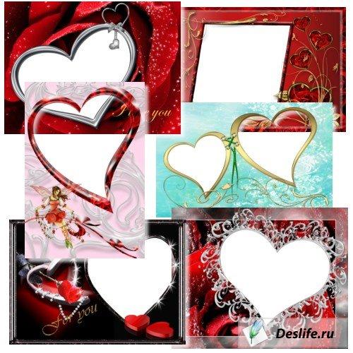 Фоторамочки с сердечками
