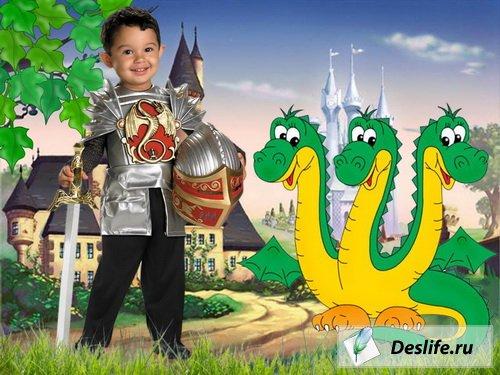 Маленький рыцарь - Костюм для фотошоп