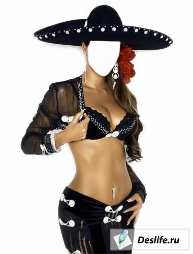 Мексиканская леди - Костюм для фотошоп