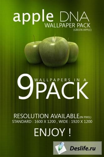 Зелёное яблоко - Пакет обоин