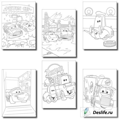 Раскраски из мультфильма Тачки (Cars)
