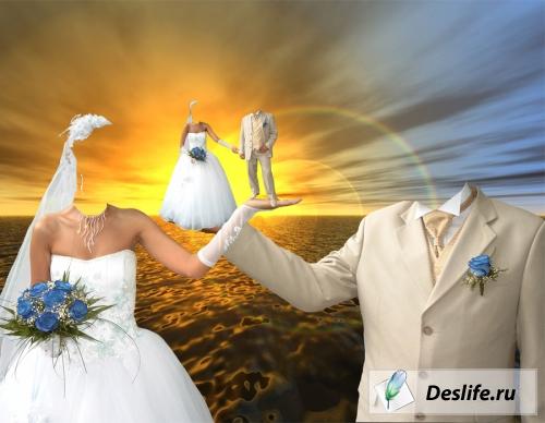 На море - Свадебный коллаж