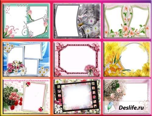 Рамки для фотошопа - Цветы