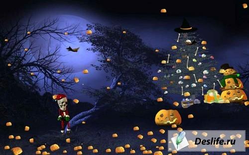 3D Хеллоуин - Рождественская Заставка