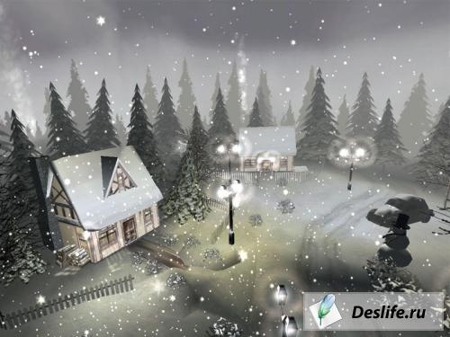 Зимний скринсейвер