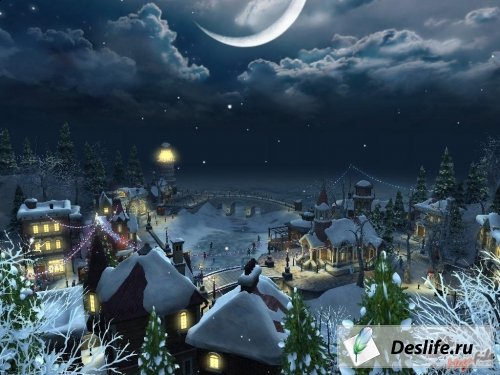 Снежная деревня - Скринсейвер
