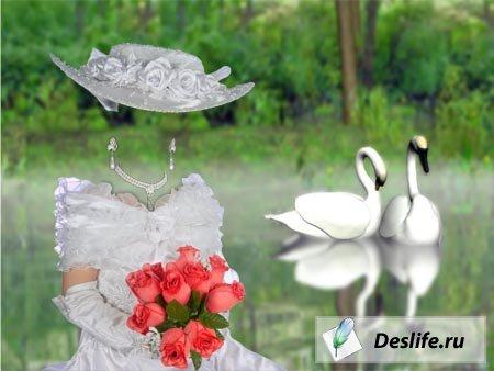 Костюм для фотошопа - Дама с розами