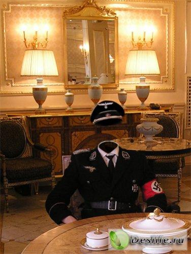 Немецкий офицер - Костюм для фотошоп