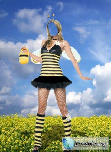 Пчёлка - Костюм для фотошоп