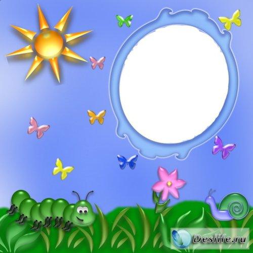 Под солнышком - Рамка для фотошоп