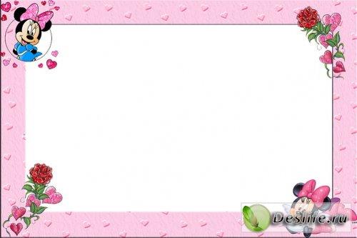 Мини Маус - Рамка для фотошоп