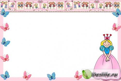 Маленькая принцесса - Рамочка для фотошоп