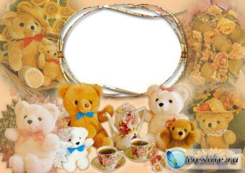 Мишки - Рамка для фотошоп
