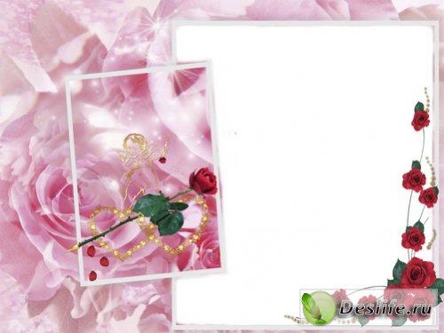Красивая свадебная рамка