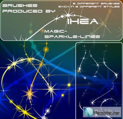 Волшебные сверкающие линии - Кисти для фотошоп