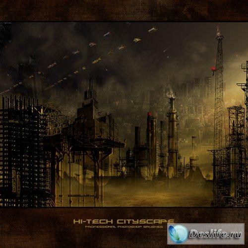 Здания, города, архитектура - Кисти для фотошоп
