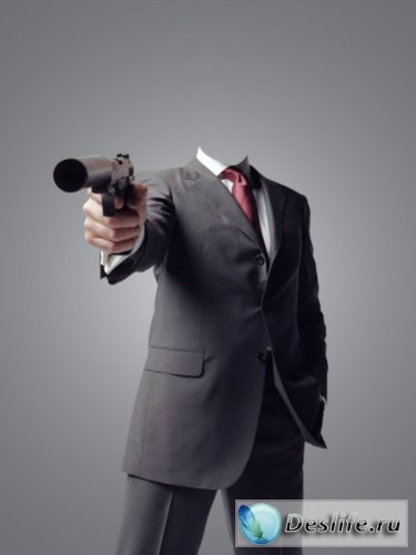 Агент 007 - Костюм для фотошоп