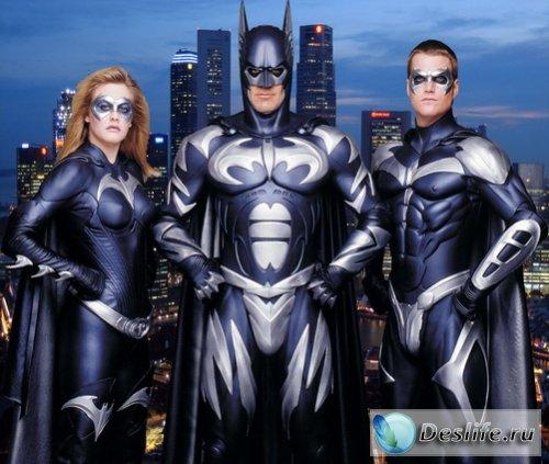 Бэтмен и компания - Костюм для фотошоп
