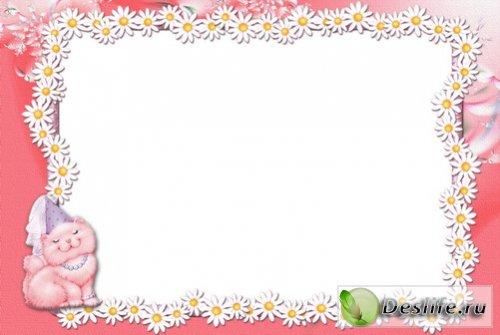 Розовая Киса - Рамка для фото
