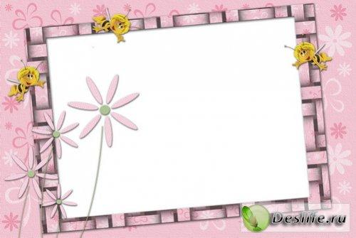 Рамочка с пчёлками для фотошоп