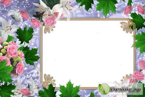 Рамка с цветами для фотошопа