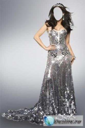 Платье в серебре - Костюм для фотошоп