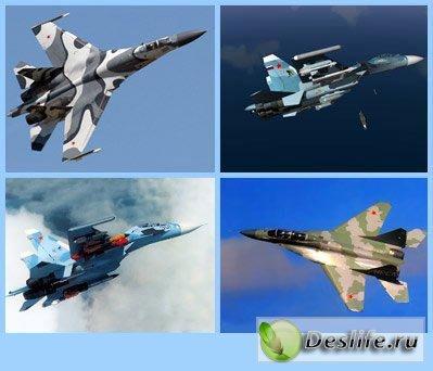 Российские истребители (1024х768) - Обои