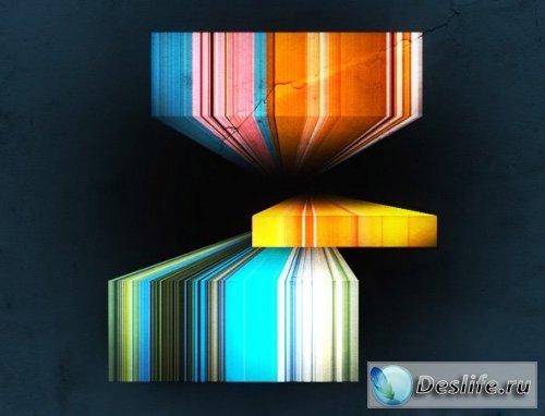 3D полосы - PSD исходник