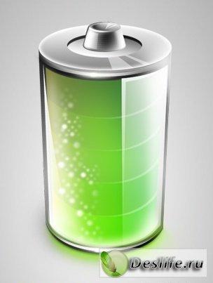 Батарейка - PSD исходник