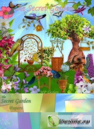 Скрап-набор – Тайный сад (Secret Garden)