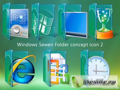 Иконки - Windows Seven Folder Concept Icon 2
