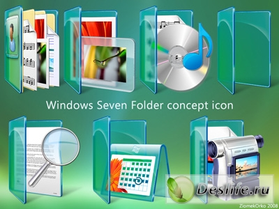 Иконки - Windows Seven Folder Icon Pack