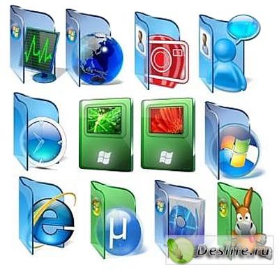 Иконки для рабочего стола - Стекло