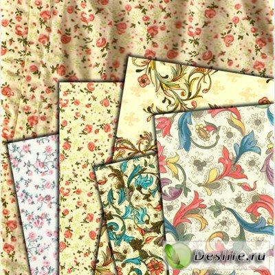 Текстуры - Цветочная ткань