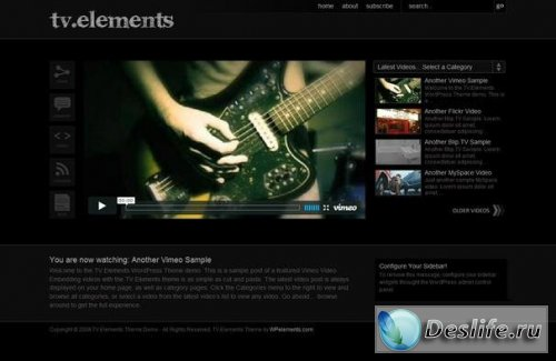 TV Elements v1.0 - тема для WordPress