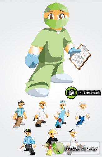 Рабочие люди - Векторный клипарт