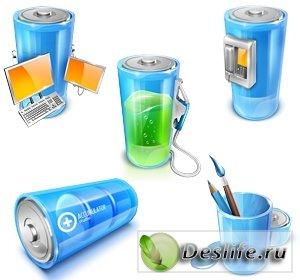 Иконки в виде батареек