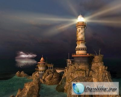Скринсейвер - Lighthouse Point 3D Screensaver 1.1
