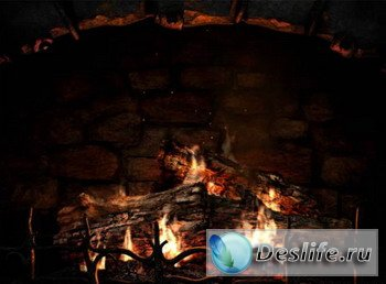 Скринсейвер - Fireplace 3D Screensaver v 1.0