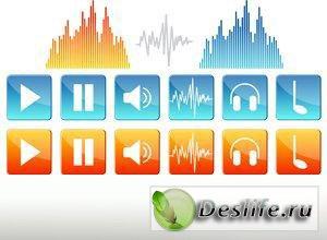 Звучащая музыка - Векторный клипарт